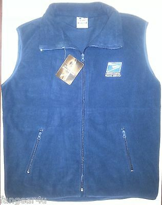 USPS Polar Fleece Full Zipper Fleece VEST with Embroidery USPS1