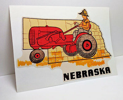 Nebraska Vintage Style Travel Decal / Vinyl Sticker, Luggage Label