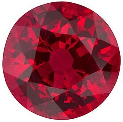 Natural Fine Rich Vivid Red Ruby - Round Diamond Cut - Mozambique - Extra Fine G