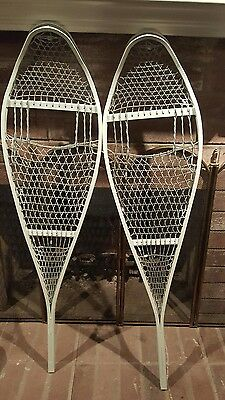 """Magline  Military Army Magnesium White Snow Shoe Snowshoes NEW 12""""X48"""""""