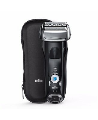 New Braun Series 7 Wet/Dry Electric Shaver Black Plus Travel Case Black 7840s