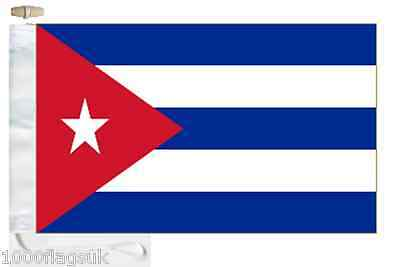 Cuba Courtesy Boat Flag Roped & Toggled