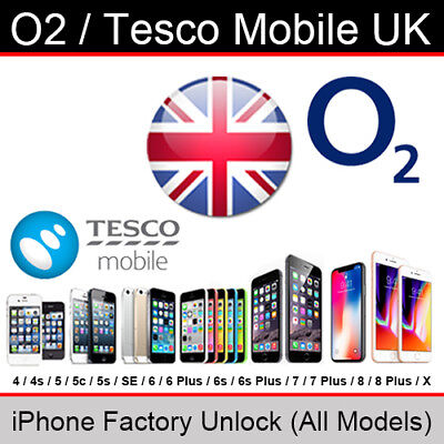 O2UK/Tesco Mobile iPhone Factory Unlock Service (All Models/Express Service)