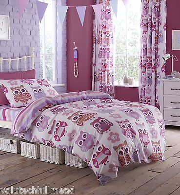 House Additions Owl Double Bed Fitted Sheet - Multi-Colour