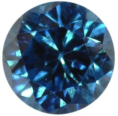Natural Extra Fine Rich Teal Blue Diamond - Round - VS2-SI1 - Africa - Extra Fin