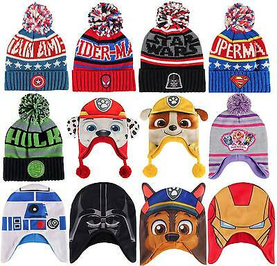 Boys Girls Kids Official Paw Patrol Spiderman Hulk Batman Various Winter Hat