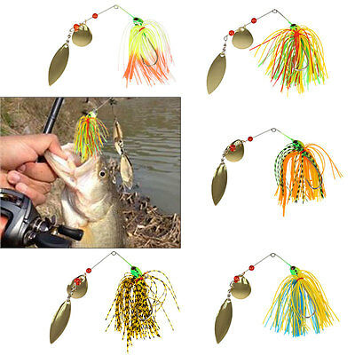 Mixed Color Pike Bass Buzz Spinner Bait Fishing Lures Crank Hooks Tackle 16.3g