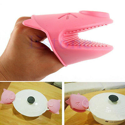 Silicone pig Kitchen Cooking Insulated Heat Resistant Gloves Microwave Oven Mitt