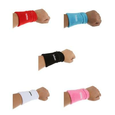 5 Color Sports Wrist Gym Wristband Tennis Badminton Sweat Band with Zip Pocket