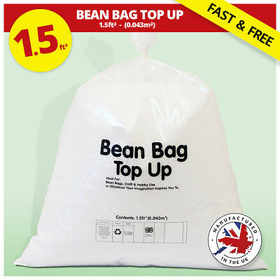 Bean Bag Refill | Polystyrene Beans | Filling Top Up Filler Booster