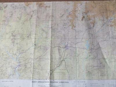 IBADAN, NIGERIA Military Joint Operations Graphic (Ground) Map c5.663