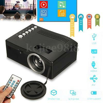 Mini HD 1080P Cine en casa Proyector Projector Multimedia HDMI 3D USB TF AV TV