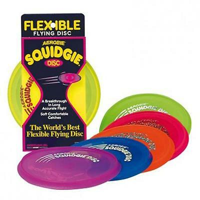 Aerobie 360160 'Squidgee' Flexible Flying Disc In Assorted Bright Colours - New