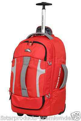 907b71dcb88 NEW HIGH SIERRA COMPOSITE SMALL 56cm WHEELED DUFFEL WITH BACKPACK BAG DAY  RED