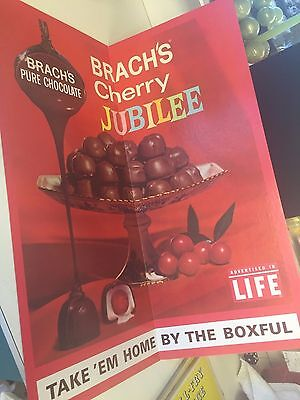Vintage Brachs Chocolate Candy Store Advertising Display Sign Nos Cherry Jubilee