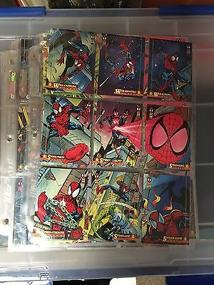 Spider-Man 1994 -Fleer-Complete Trading Card Set-150 Cards in plastic sleeves-94