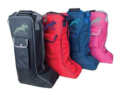 PERSONALISED EMBROIDERED RHINEGOLD LONG RIDING BOOT BAG with Horse Jumping logo
