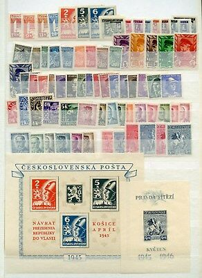 Czechoslovakia  Lot Of Mint Hinged & Mostly Nh Stamps Partially Shown