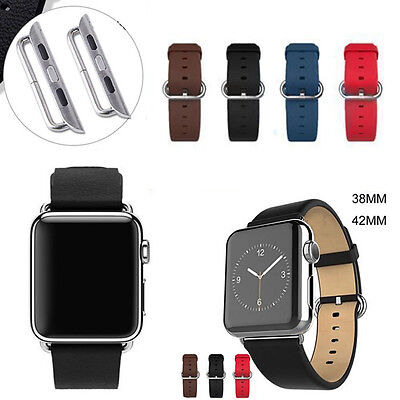 Leather Watch Band Strap Bracelet for Apple Watch iWatch 38mm/42mm Series 2 / 1