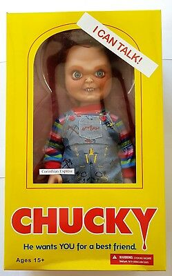 "Child's Play 15"" Talking Chucky 'Evil Face' action figure w/sound (MEZCO TOYZ)"