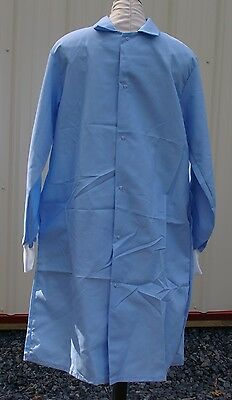 """Best Medical Unisex L/S Lab Coat Snaps Side Vents knit cuff 42"""" Length Sz Small"""