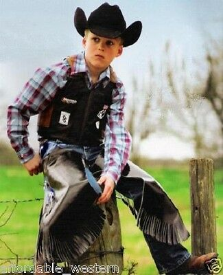 Kid's ~BULLRIDER VEST & CHAPS~ Mutton Bustin/Buster - Rodeo Costume Set-Separate