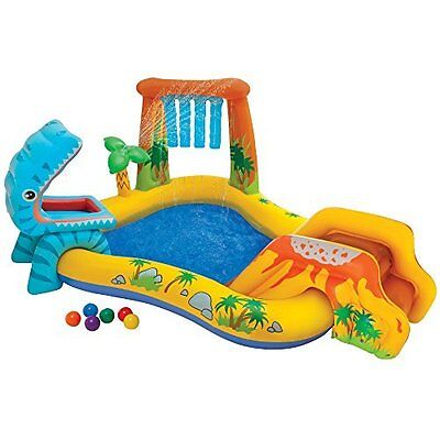 Intex Dinosaur Inflatable Kids Play Center Swimming Pool (57444)