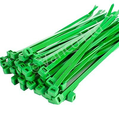 Green Cable Ties Zip Ties Cable Tie Wraps 200mm X 4.8mm Different Pack Sizes