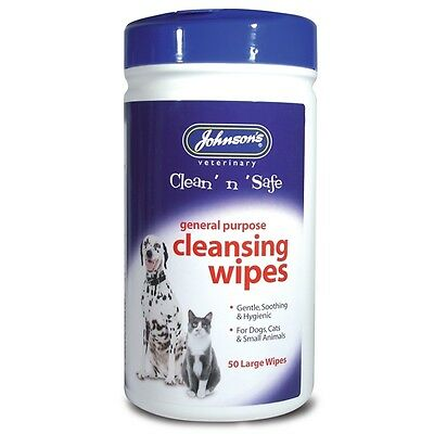 Johnsons Clean 'n' Safe General Purpose Wipes Large Cleansing Wipes Dog & Cats