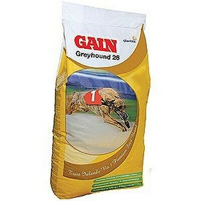 Gain 28 Greyhound Lurcher Performance Racing Working 28% Protein Dog 15Kg