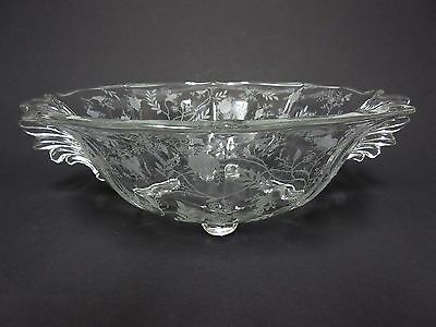 """Chintz 4-Footed 10.5"""" Console Bowl / Fostoria Glass Co"""