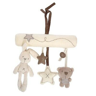 Hot Newborn Baby Stroller Toys Lovely Rabbit & Bear Shaped Baby Bed Hanging Toys