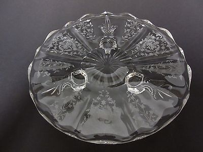 "Navarre 3 Legged 8"" Tidbit Tray / Fostoria Glass Co"
