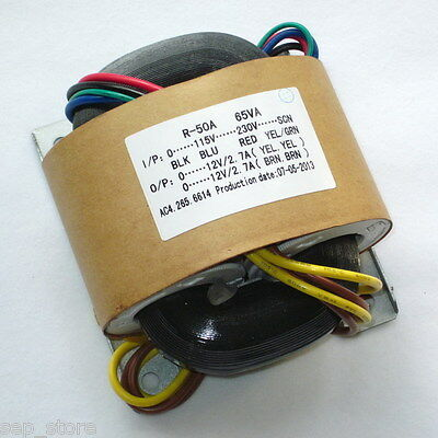 65W R-CORE  Transformer for audio DAC/PSU  AC115V /230V  12V + 12V L169-68