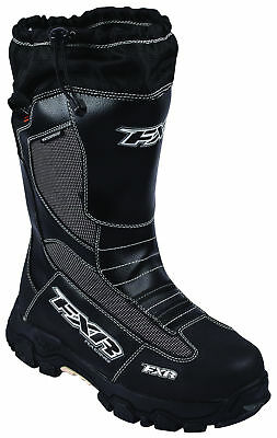FXR Mens Black/White Excursion Snowmobile Boots Snow Snocross 2017
