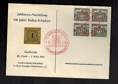 1951 Berlin West Germany Cover May Day Cancel # 9N42