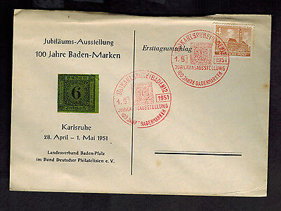 1951 Berlin West Germany Cover May Day Cancel # 9N43
