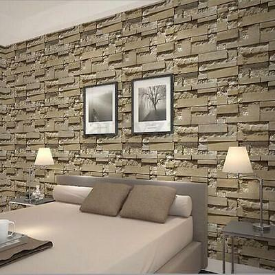 3D Stone Brick Wall Paper Background Modern Mural Living Room Roll Home Decor