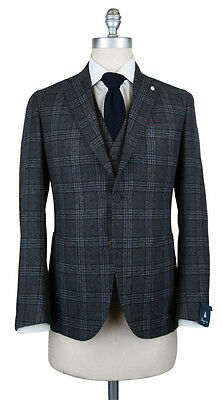 New $1025 Finamore Napoli Gray Wool Blend Plaid Suit - 36/46 - (60009802)
