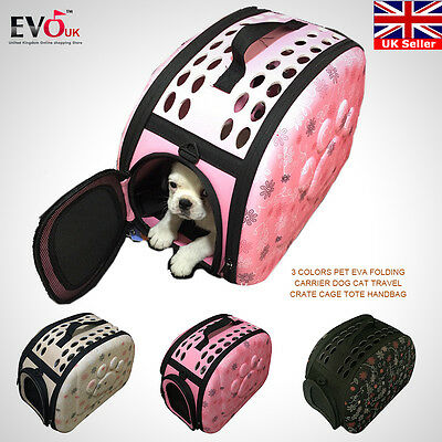 Pet EVA Folding Carrier Dog Cat Travel Crate Cage Tote Handbag 3 Colors
