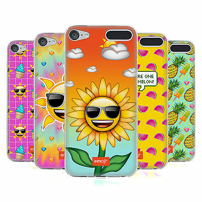 OFFICIAL EMOJI HAPPY SUMMER SOFT GEL CASE FOR APPLE iPOD TOUCH MP3