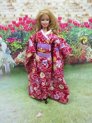 Kimono Vintage Style Outfit for Barbie Doll Dress Costume Clothing J-5
