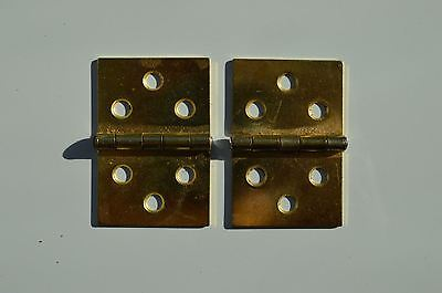 Pair of replacement antique table hinges tea table card table Pembroke hinge THH