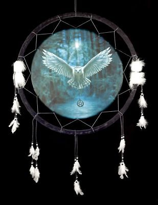 Großer Traumfänger Eule 60 cm - Awaken your Magic - Dreamcatcher Anne Stokes