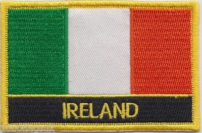 10 x Ireland Flag Embroidered Patch Badge - Sew or Iron on - Wholesale Job Lot