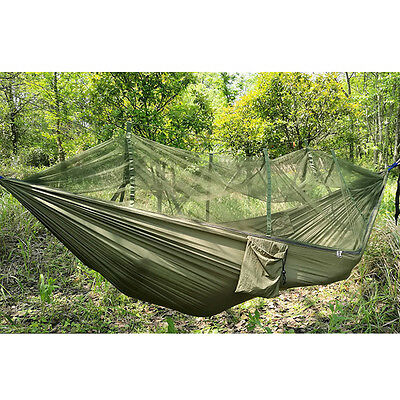 Travel Camping Outdoor Hammock Swing Hanging Bed Sack Mosquito Net Portable