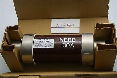 NEBB Norsk Elektrisk & Brown Boveri Cartridge Fuse Link 100A CD 7.2kV 850mvA