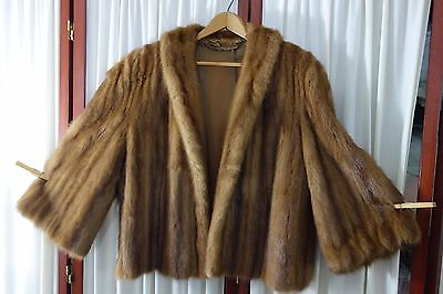 1950's Mink Jacket- Size 14/Large- Warm Brown- LUXURIOUS MINK- NEW SALE PRICE