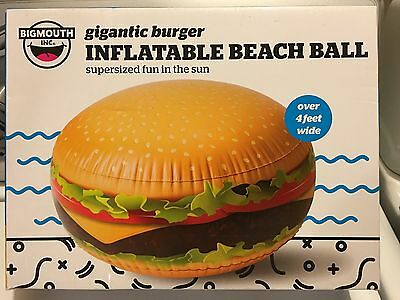 BigMouth Inc - GIANT HAMBURGER Inflatable Beach Ball - Pool Party Water Toy