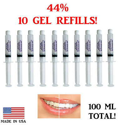 44% Teeth Whitening Gel Tooth Bleaching 10 Syringes 3D  Dental Professional USA!